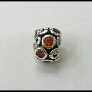 Pandora Orange CZ Primrose Path Charm